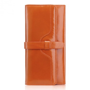 Teemzone Women's Candy Colour Genuine Leather Evening Party Clutch Organiser Wallet