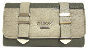 GUESS Western Wild SLG Slim Clutch Wallet, Olive Multi