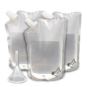 Cruise Liquor Bag Kit - Large Reusable And Concealable Flask Set - Sneak Alcohol - Camping Botas And Flasks