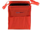 Silver Brush 68010 Nylon Original Aqua Tote Travel Water Bag, Red