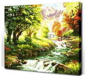 Diy oil painting, paint by number kit- Wonderland 16*50cm .