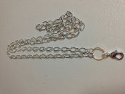 80cm Silver Flat Oval Chain for Living Lockets Floating Lockets Memory Lockets