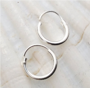 Ultra Small HOOP Earrings, 8mm,sterling silver,endless hoops,nose,cartilage,ears,lips