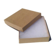 Kraft Brown Square Cardboard Jewellery Boxes 3.5 X 8.9cm X 2.5cm