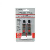 Vigour Jewellers 2-Part Fast Epoxy Glue Jewellery Glass Metal Plastic Fibreglass