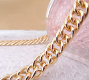 DIY Top Grade 10mm Width Golden Handbag Chains Handbag Accessories Purse Handles Clutch Straps 51.2 Inches