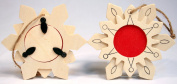 Package of 12 Unfinished Wood Snowflake Picture Frame Ornaments -Great Group Kids Project