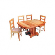 Woodworking Project Paper Plan to Build Kids Extension Table with Chair