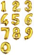 Helium Foil Digital balloons ,birthday holidays weddin party supply Golden 100cm 0