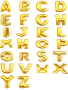 Helium Foil letters balloons ,birthday holidays weddin party supply Golden 100cm X