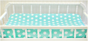 My Baby Sam Pixie Baby Polka Dot Contour Changing Pad Cover, Aqua and Pink