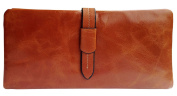 Visnow(TM) Elegant Women's Genuine Soft Cow Leather Natural Leather Purse Wallet Card Bag Business Coffee Carry Bag