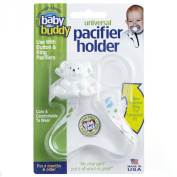 Baby Buddy Universal Pacifier Holder, White Tossed Baby Feet
