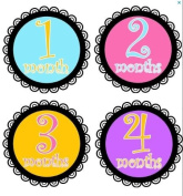 Monthly Stickers Baby Month Stickers Baby Girl Monthly Stickers Girls Curly Laced Collection