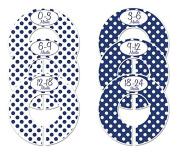 #C152 Navy Boy Baby Closet Dividers Clothes Organisers Set of 6 Polka Dots
