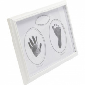 CR Gibson Stepping Stones Handprint & Footprint Kit White Frame-Lovely Keepsake New