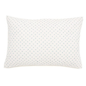 Auggie Quilted Decorative Pillow Cover, Cross Stitch/Blue
