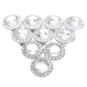Pack of 10 Round Pull Handle Crystal Rhinestone Knob for Cupboard Drawer Wardrobe