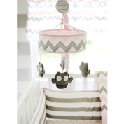 My Baby Sam Chevron Mobile, Pink/Grey