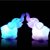 A pairs 7 Colour Changing Elephant LED Night Light Lamp with Battery Party Decor SH-HG-220