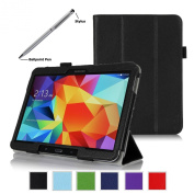ProCase Samsung Galaxy Tab 4 10.1 Tablet Case with bonus stylus pen - Tri-Fold Smart Cover Case for 25cm Galaxy Tab 4 (2014 released), with auto Sleep/Wake, Hand Strap, also compatible with Galaxy Tab 3 10.1