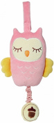 My Natural 46403 Musical Pull Toy - Pink Owl