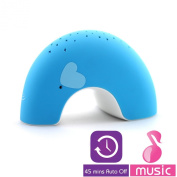 "Lumitusi - Blue Elly ""Easy Clean, Lullaby"" Twilight Constellation Elephant Projector Night Light with Music, Rubber Finishing"