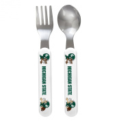 Baby Fanatic Fork and Spoon Set, Michigan State University