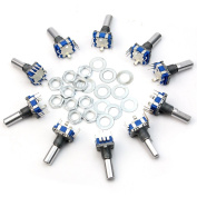 New 10pcs 12mm Rotary Encoder Push Button Switch Keyswitch Electronic Components