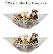 *2 Pack* Jumbo Toy Hammock Net Organise Stuffed Animals