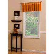 Carousel Designs Solid Orange Window Valance Tab-Top Style