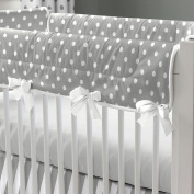 Carousel Designs Grey and White Dots and Stripes Crib Rail Cover