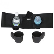 Joovy Caboose VaryLight Parent Organiser and Cup Holders, Black