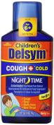 Delsym Children's Liquid Night Time Cough Suppressant Plus Cold Relief, Mixed Berry, 180ml