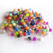 Wholesale 100x Ball Nipple Tongue Ring Bar Barbells Body Piercing Jewellery
