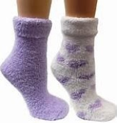 2 Pack of Earth Therapeutics Thera Soft Shea Butter Moisturising Socks