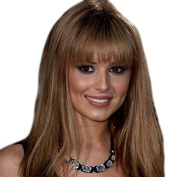 ONE PIECE CLIP IN FRINGE BANGS HAIRPIECE IN NICE LIGHT BROWN COLOUR