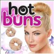 Bella Plaza Hot Buns 2 Piece Magic Hair Styling Styler Twist Ring Former Shaper Doughnut Donut Chignon Bun Maker Clip Hair Curler Accessory Small & Large