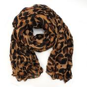 AllBueaty Fashion Women Ladies Brown Leopard Print Soft Long Stole Scarf Shawl Pashmina
