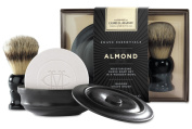Caswell Massey Almond Shave Soap & Brush Set