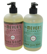 Mrs. Meyers Liquid Hand Soap Basil & Rosemary, 370ml each