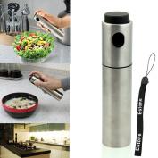 Estone® 1pc Stainless Steel Olive Pump Spray Fine Bottle Oil Sprayer Pot Cooking Tool