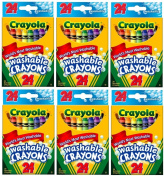 . Washable Crayons 24 in a Box (Pack of 6) 144 Crayons in Total