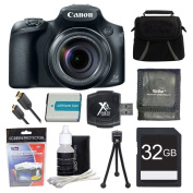 Canon PowerShot SX60 HS Digital Camera 32GB Ultimate Bundle Includes Camera, 32GB SD Memory Card, Gadget Bag, NB-10L Battery, Memory Card Wallet, SD USB Card Reader, Mini Tripod, Mini-HDMI to HDMI A/V Cable, LCD Screen Protectors, and Lens Cleaning Kit