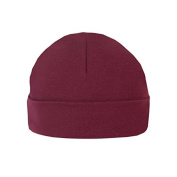 Maroon Unbranded 0-3M Plain Baby Beanie Hat