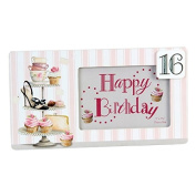 Sophia Cupcake Boulevard Mdf Frame 16Th Birthday