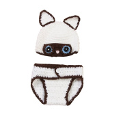 JTC Baby Boys Girls Knit Crochet Beanie Infant Unisex Photography Prop Costume Hats Cap Pants Set