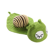 JTC Baby Boys Girls Knit Crochet Beanie Infant Photography Prop Snail Unisex Hat Caps with Long Tail