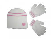 Girls Winter Magic Hat and Gloves Set - Available in Cream, Purple or Pink
