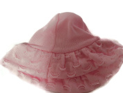 Angelina hat Girls knitted wide floppy brimmed hat Colour Pink